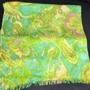 Lilly Pulitzer murfette silk cashmere logo scarf